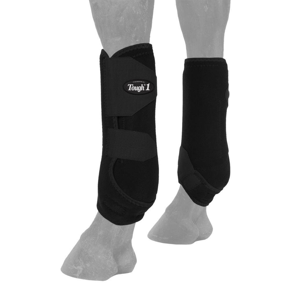 Tough-1 Vented Sport Boots Rear Medium Black