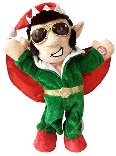 "Chantilly Lane Elfis The Rocker Sings Santa's Back in Town, 13"" (Animated Dolls Christmas)"