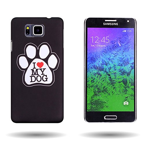 - Galaxy Alpha Case (Dog Paw) Animal Design CoverON 1pc Slim Protective Back Plate Hard Phone Cover for Samsung Galaxy Alpha G850A