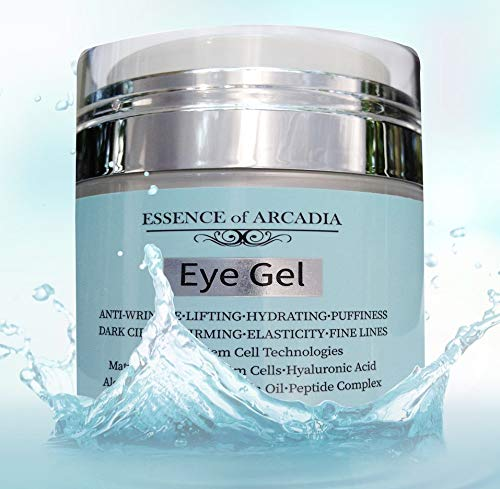 Eye Gel Essence - Eye Gel, for Dark Circles, Puffiness, Wrinkles, Skin Firming and Bags - Effective Anti-Aging Eye Gel for Under and Around Eyes including Crows Feet with Hyaluronic Acid and Aloe Vera- 1.7 fl. oz.