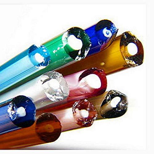 Devardi Glass 1 lb Bi-Color COE 104 Glass Rods, Lampwork, Beadmaking