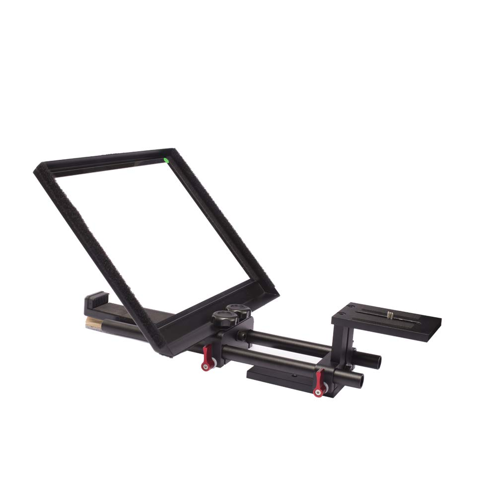 Professional Studio Teleprompter Kit for Tablet/Smartphone/DSLR Video Camera Camcorder with Free Carry Case by Generic