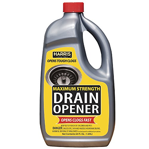 Harris Maximum Strength Drain Cleaner, 64oz