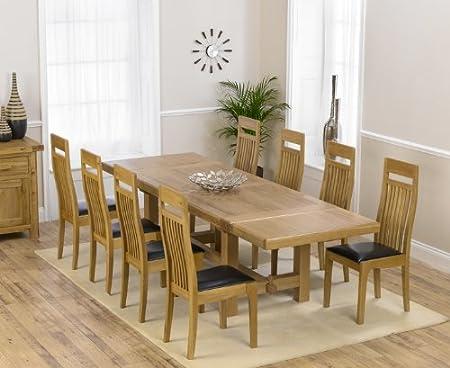 Enjoyable Aylesbury Oak Extending Dining Table With 8 Monte Carlo Inzonedesignstudio Interior Chair Design Inzonedesignstudiocom