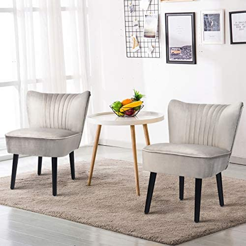 Giantex Set of 2 Velvet Accent Chair