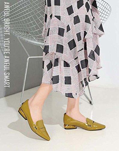 Planos Talla Color para Zapatos Verde Tamaño Punta 34 39 Zapatos de Gris Mujer Estrecha Verde 39 H7qqAd