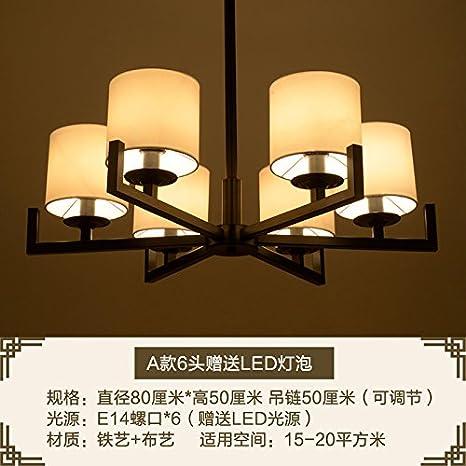 ... la nueva China moderna sala minimalista lámpara hierro lámpara Club decoración el restaurante del dormitorio, el envió de una cabeza 6 Bombillas LED: ...
