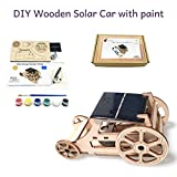 3D DIY Wooden Solar Car Robotics Engineering Kit - STEM building Kits Creative Project with Color and Brush - Solar-Powered Toy Educational Activity - Make Your Own Car For Kids, Teens and Adults