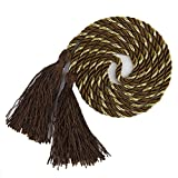 SODIAL(R) 1 Pair of Curtain Tiebacks Tie Backs Tassel Rope Living Room Bedroom Decoration 135CM
