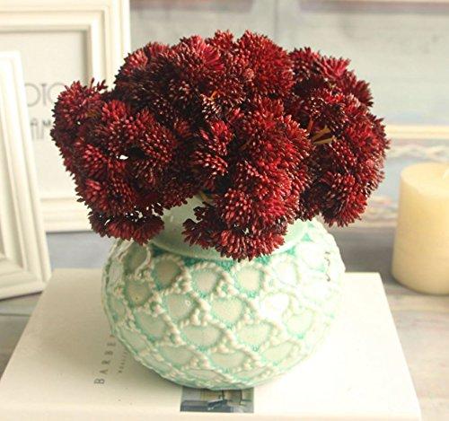 Bouquet Fake Fruit Rare Grass Artificial Flower Home Wedding Decor (Red)