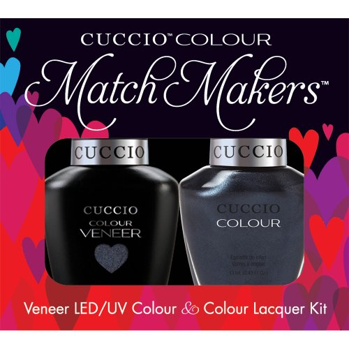 Cuccio Veneer and Colour Matchmaker Nail Polish, Nantucket Navy (Shatter Nail Lacquer)