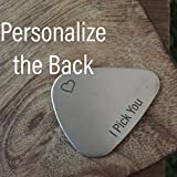 Best Sierra Metal Design Birthday Gift For Men - I Pick You Guitar Pick Valentines Day Gift Review