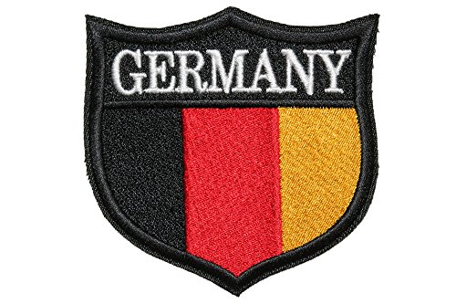 World Flags Embroidered Patch Shield (3 x 3) European Edition. Custom Flags of Countries in Europe. 100% Made in USA (Germany)