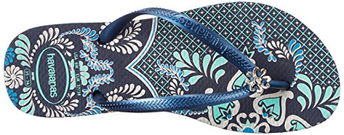 Blue Slim Blue Thematic On Thong Slip Women's Navy Sandals Navy Strap Havaianas 4wq1aUznAx