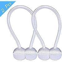 Longess Curtain Tiebacks Clip, Curtain Tiebacks Holdbacks Rope Magnetic Hook for Bathroom Shower Decorative Bedroom Living Room(2pcs)