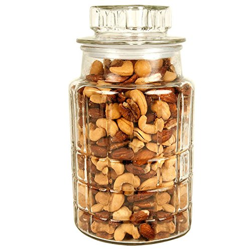 Price comparison product image Expect More Gourmet Mixed Nut Decorative Jar,  38 oz (9.49 lb)
