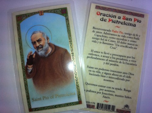 - Holy Prayer Cards For San Pio of Pietrelcina in Spanish with FREE shipping in the U.S. and it's Territories!