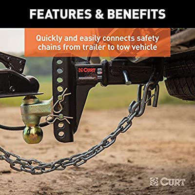 CURT 81810 3/8-Inch Certified Trailer Safety Chain S-Hook with Latch, 2,000 lbs.: Automotive