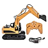 Yosooo 1/14 Scale 15 Channel Excavator Toy RC Vehicle,Full Functional Remote Control Excavator Construction Tractor, Excavator Toy with 2.4Ghz Transmitter and Metal Shovel