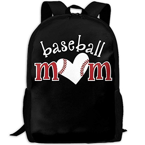Baseball Love Mom Unique Outdoor Shoulders Bag Fabric Backpack Multipurpose Daypacks for Adult