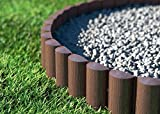 Cellfast Lawn Edging Palisade, Brown, 5901828858512 8 pieces 2.4 x 0.3 m