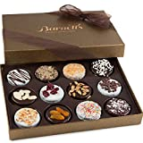 #1: Barnett's Mothers & Fathers Gift Basket | Gourmet Chocolate Cookies Day Box Gifts | 12 Delicious Flavors | Unique Elegant Easter Idea For Men & Women, Birthday, Get Well Corporate Baskets