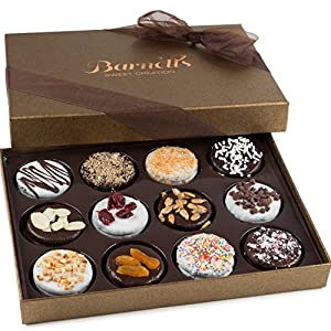Barnett's Valentines Gift Basket For Him or Her | Chocolate Oreo Cookies Gifts Box | 12 Delicious Flavors | Unique Elegant Gift Idea For Mothers Day, Men, Women, Birthdays, Corporate Gifts Baskets