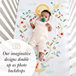 Rookie-Humans-Floral-Cotton-Sateen-Crib-Sheets-Love-Blooms-Modern-Crib-Nursery-Bedding-Fitted-Mattress-Sheets-with-a-Heart-Design-for-Boys-Girls-Baby-Shower-Gift-Standard-Size-52-x-28