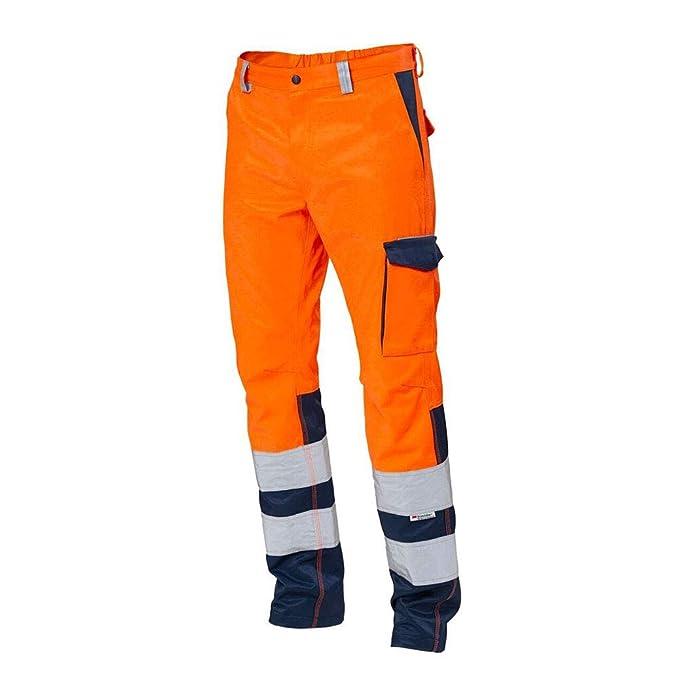 Pantalone da Lavoro 25PA1140 SIGGI Arancio Blu Alta VISIBILITA  Multitasche  ... 0809d843b914