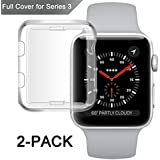 Apple Watch series 3 Case, Misxi iwatch 3 screen protector tpu all-around 0.3mm ultra-thin cover for New Apple Watch series 3 42mm (2 Pack)