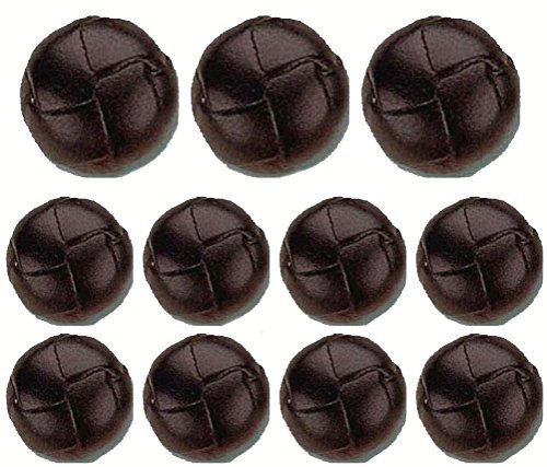 Deluxe Brown Leather Buttons Set (11)