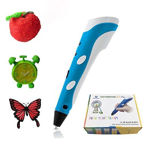 VICTORSTAR 3D Pen Blue RP-100A Compatible with PLA & ABS Fil