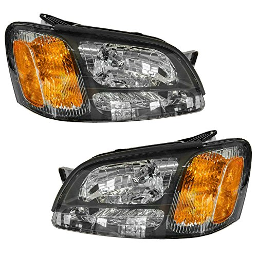 Headlights Headlamps Pair Set for Subaru Legacy GT Baja Outback