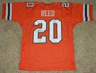 new arrival 56ed9 e01cb Ed Reed Signed Jersey - #20 Orange Throwback - JSA Certified ...