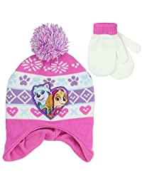 PAW PATROL GIRLS WINTER HAT & MITTENS SET