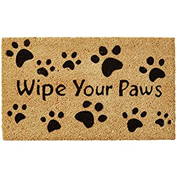 Amazoncom Kempf Wipe Your Paws Coco Doormat Rubber Backed 18 By