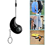 XINdream Women's Anti-Wolf Safety Alarm, Keychain Design 130db Personal Security Emergency Alarm with LED Flashlight Compass for Elderly Women Kids Night Workers