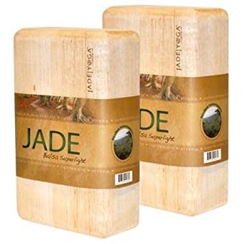 Amazon.com: JadeYoga Balsa bloque Superlight: Sports & Outdoors