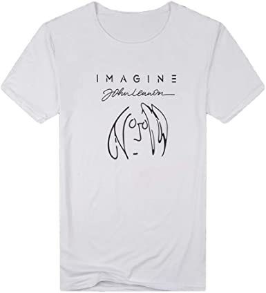 waotier Camiseta De Manga Corta De Hombre Top De Manga Corta con Estampado De Hombre con Texto Imagine De Primavera Y Verano: Amazon.es: Ropa y accesorios
