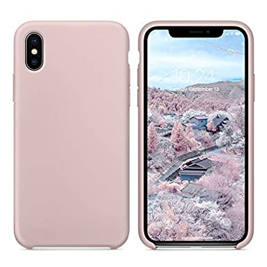 low priced 674f5 111f7 SURPHY iPhone Xs Max Silicone Case, Liquid Silicone Gel Rubber with Soft  Microfiber Cloth Lining Cushion Anti-Scratch Shockproof 6.5 inch Phone Case  ...