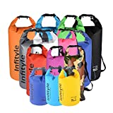 Waterproof Dry Bags - Floating Compression Stuff Sacks Gear Backpacks for Kayaking Camping - Free Bonus Phone Case and Pocket Tool