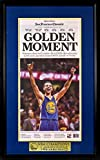 Golden State Warriors Championship Newspaper Display (w/ NBA Champions Plate) Framed
