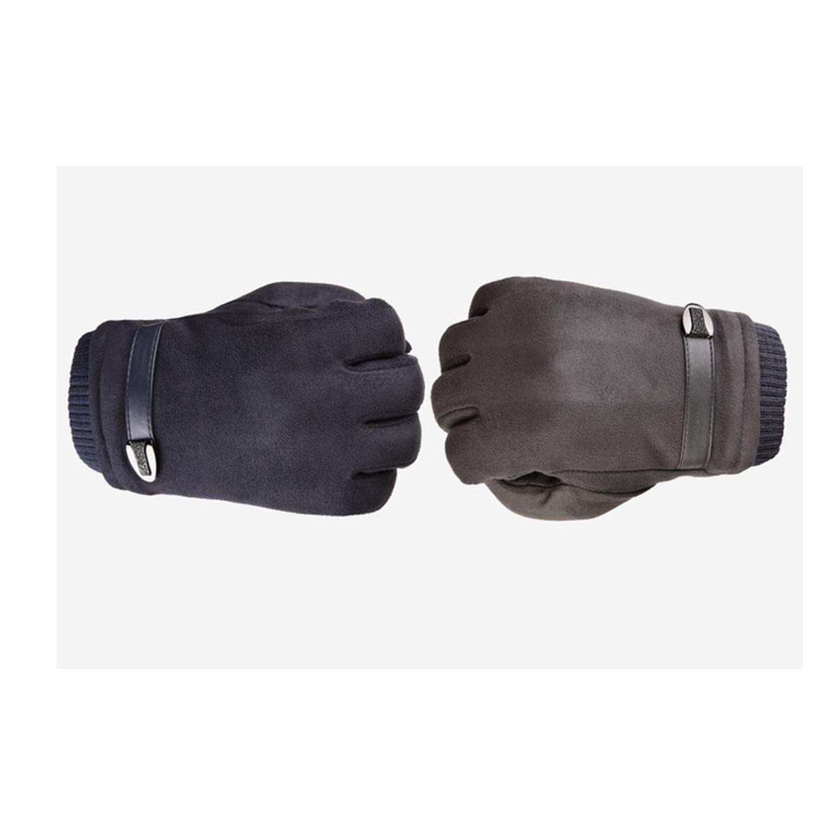 Gloves Mens Winter Touch Screen Suede Outdoor Driving Riding Plus Velvet Thick Warm Gloves Gift for a lover