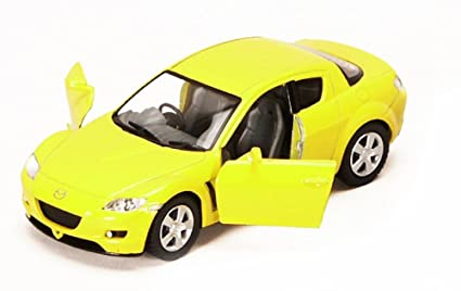 Mazda RX-8, Yellow - Kinsmart 5071D - 1/36 scale Diecast Model Toy Car