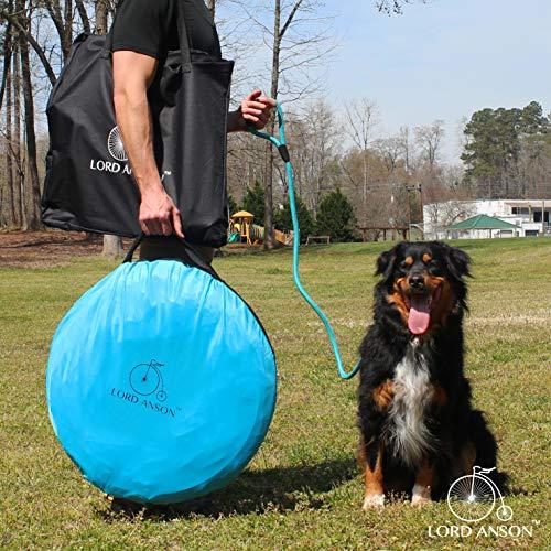 Lord Anson™ Dog Agility Set - Dog Agility Equipment - 1 Dog Tunnel, 6 Weave Poles, 1 Dog Agility Jump - Canine Agility Set for Dog Training, Obedience, Rehabilitation by Lord Anson (Image #1)