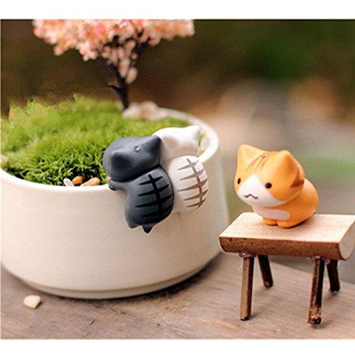 Neko Atsume ねこあつめ Meow Mochi Dango Cat Flower Pot Micro Landscape 6pcs Mini Doll