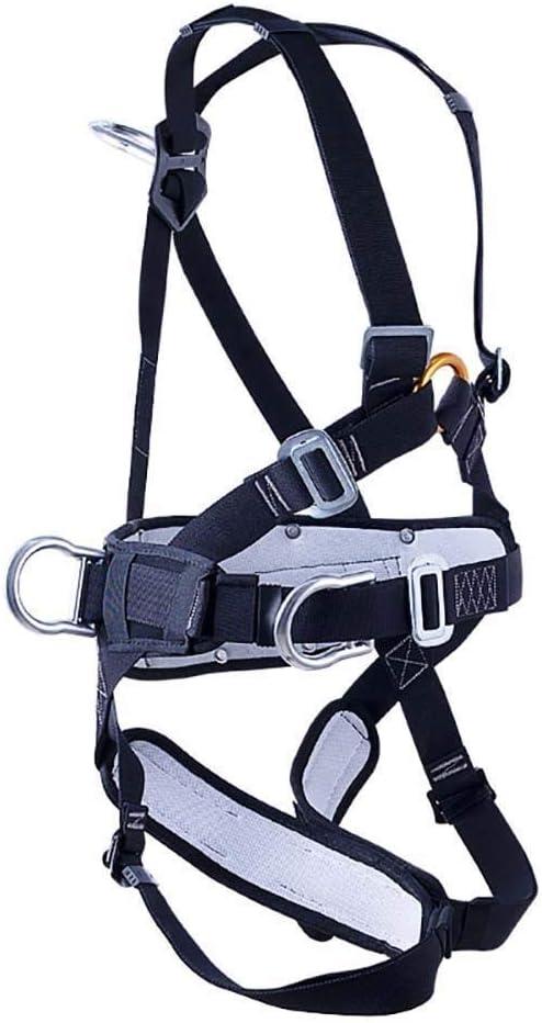 YDXYZ ストラップ付き成人用安全ハーネスを保護する大人用軽量クライミングハーネス登山用のフルボディ安全シートベルトロッククライミング火災救助エンジニアリング保護