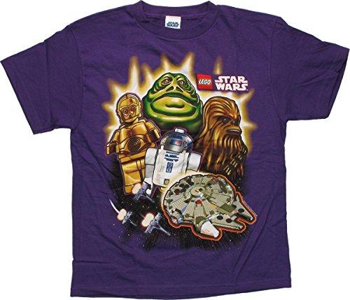 Lego Big Boys' Familiar Faces Regular T-Shirt, Purple, Medium
