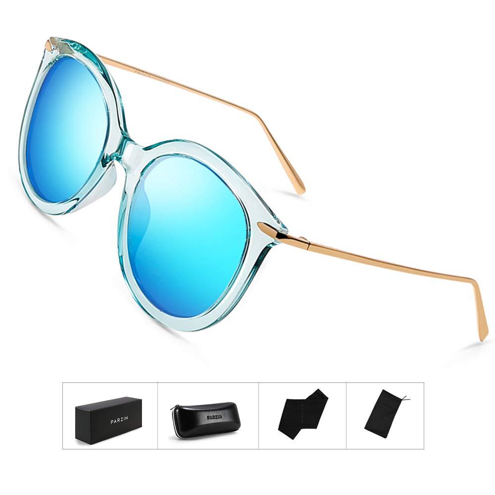 c2a958cf5e Oversize Womens Sunglasses Colorful Polarized - PARZIN 100% UV Protection  Eyewear