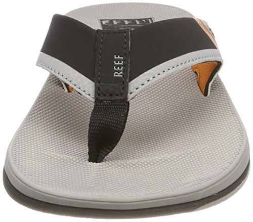 Low Reef Men's Thong Sandal Fanning Orange Grey qEqdnTvz
